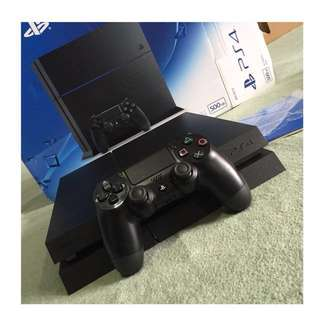 PS4 Jet Black 500gb (complete set, with box and manual, barely used, very good condition with free charging stand)