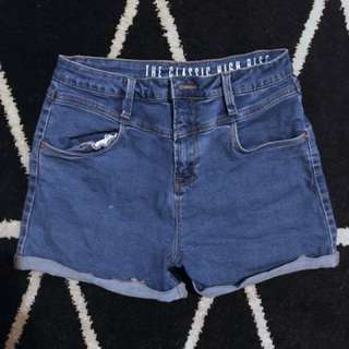 Medium-Light wash Mid Rise Denim shorts