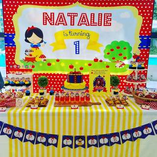 Birthday Banner- Personalised Snow White