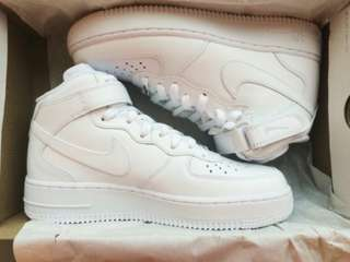 High Top All White Forces