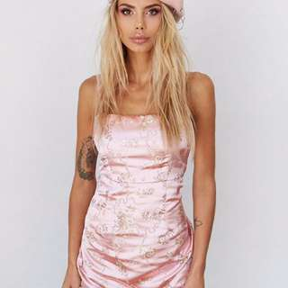 BNWT I.AM.GIA Pink Oriental Dress