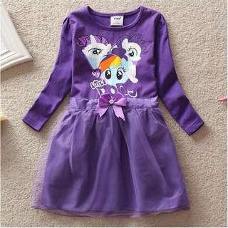 Preorder purple poney dress