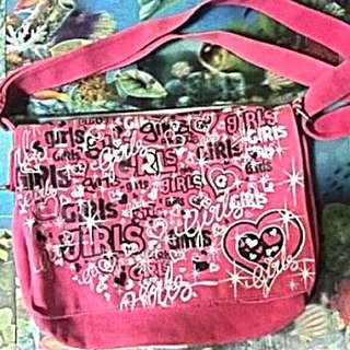 GIRLS Pink Sling Bag