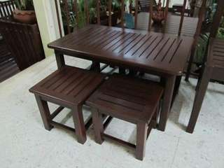 Misty Table & Stool set