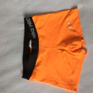 NIKE Orange Spanx - SIZE M (would fit 6-10)