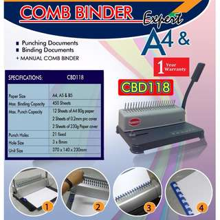Comb binder machine binding machine Paper Combinder