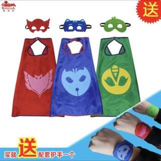 (FREE mail) PJ Masks with Cape and wrist band