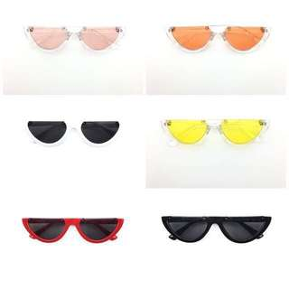 Kacamata watermelon half frame sunglasses