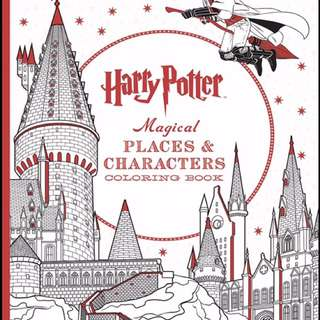 HARRY POTTER Colouring Book: magical places and characters