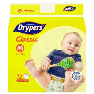 Drypers Classic Family S82/M72/L60/XL50/XXL42 (1 pack)