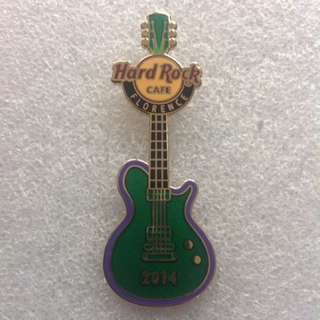 Hard Rock Cafe Pins - FLORENCE HOT 2014 CALCIO STORICO GREEN TEAM GUITAR PIN!