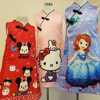 *CLEARANCE *Hello Kitty ,Sofia,Tsum Tsum CheongSam(2 for 65)