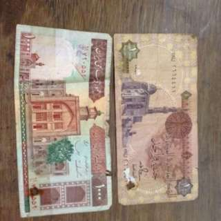 Egyptian and Iranian notes