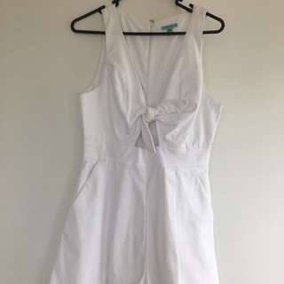 White kookai playsuit