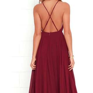 Red Wine Prom/Special Occasion dress