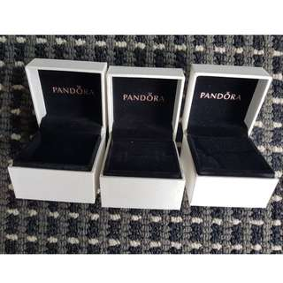 Pandora Charm/Ring Boxes with Shopping Bags