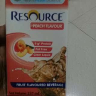 Resource Peach Flavour nutrition drink exp:06/18