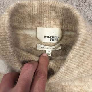 wilfred free wool sweater