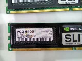 OCZ SLI Ready Edition Nvidia 2GB PC2 DDR2-800 6400 RAM