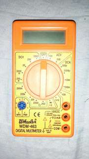 Digital multimeter, relay module and rechargeable battery