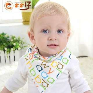 Baby Bib Saliva Towel with Button
