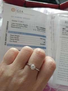 周大福 50份鑽石戒指 GIA H SI2