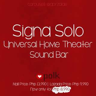 Polk Audio Signa Solo Universal Home Theater Sound Bar