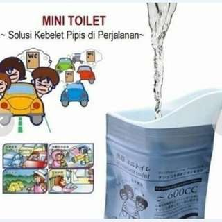 Mini Toilet Car - Kantong Urine Travel Bag