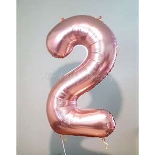 "40"" Large Number Helium Balloons"