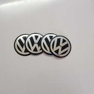Volkswagen wheel hub sticker