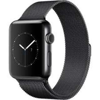 Apple Watch Series 2 42mm Black Stainless Steel Milanese Loop Strap with AppleCare+ and FREE Midnight Blue Sportsband