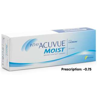 (-0.75) DAILY CONTACT LENSES 1 day ACUVUE® MOIST® daily disposable (30)