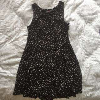 polka dot summer swing dress