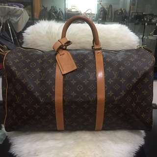 Louis Vuitton keepall 50 with stitch prob on handle
