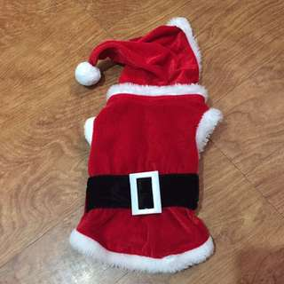 Santa Claus pet clothing small