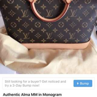 Authentic LV Alma in Monogram