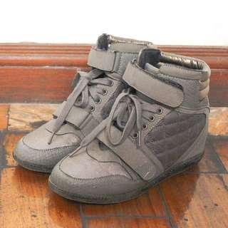 Gray Wedge Sneakers