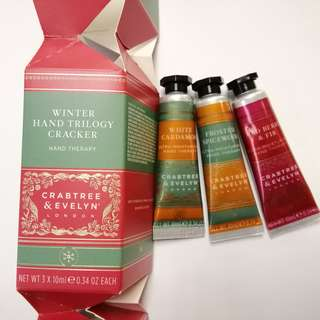 Crabtree and Evelyn Hand Cream 3x10g 手霜