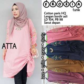 Baju wanita blouse tunik frozia muslim remaja trendi unik modern modis