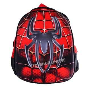 Spiderman School Bag-High Quality 3D Eva Superman School Bag Backpack 3-6y