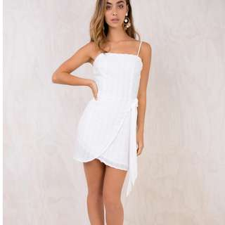 Princess Polly square neck wrap dress