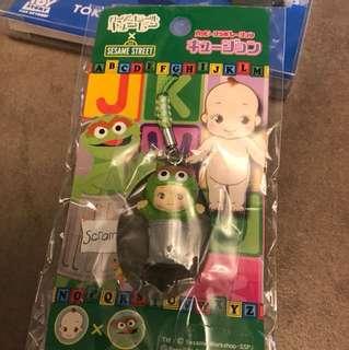 (包郵) Sesame Street Oscar Kewpie 電話繩