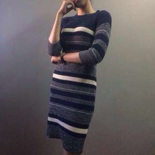 P&Co Knitted Midi Dress