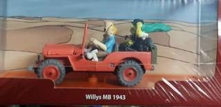 New Deluxe Tintin Jeep Africa Collector's Edition
