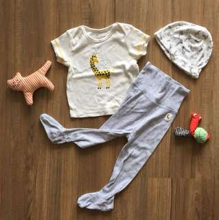 H&M organic cotton baby set
