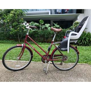 Linus Scout, 7 Speed bicycle + Hamax Caress