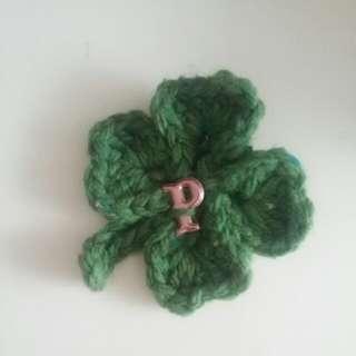 Handmade Crochet LUCKY Clover Leaf