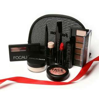 Focallure 8pcs Makeup Set in Pouch (TURUN HARGA!!)