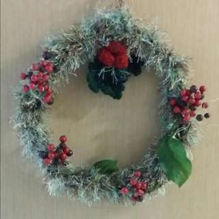 Handmade Crochet Yarn Wreath 1