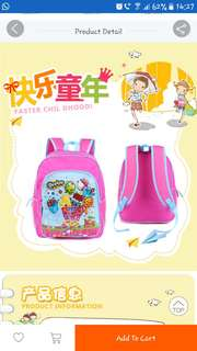 Kids School Bag - Shopkins